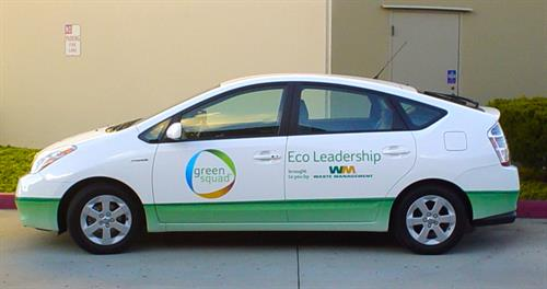 Wrapped car for Waste Management
