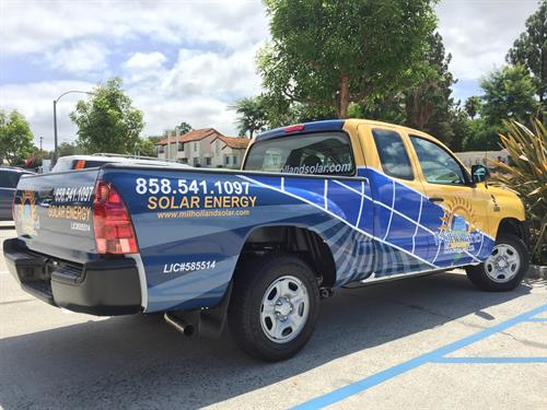 Wrapped truck for Milholland Electric