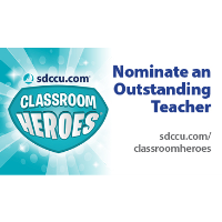 Nominate an Outstanding Teacher for SDCCU Classroom Heroes