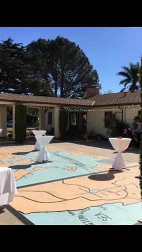 Courtyard; reception