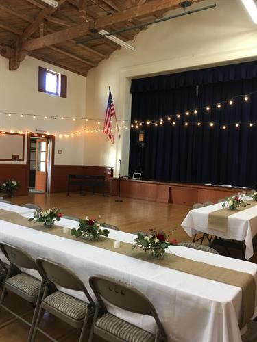 Parish Hall; wedding reception
