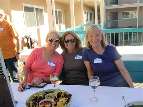Guests enjoying Deck Party at Carpinteria Shores
