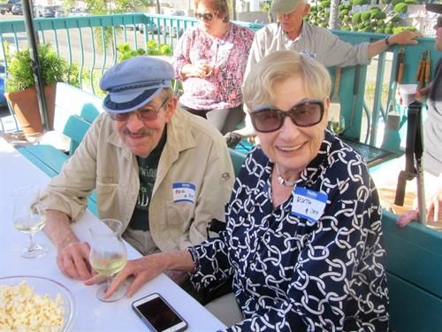 Long Time Guests enjoying Deck Party at Carpinteria Shores