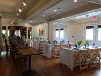 Gallery set up for a wedding