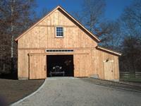 New barn doors on a new barn.