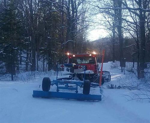 Grooming the trails!