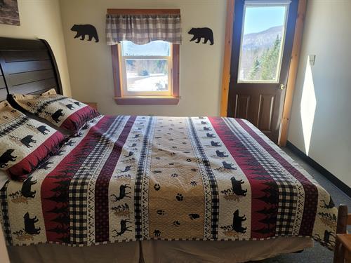 Bear Cave bedroom with queen bed