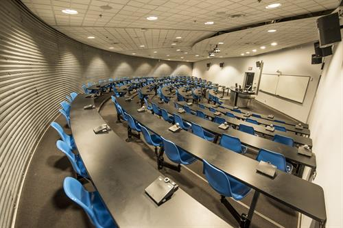 Lecture Theatres & Classrooms are perfect for large Conferences