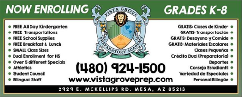 Now enrolling for the 2021 - 2022 school year!  We have over 30+ bus stops in Mesa! Call now to schedule a 1:1 orientation & tour!