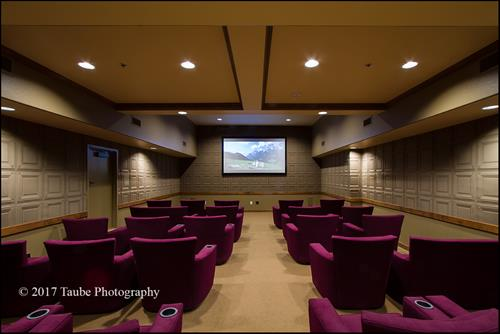Movie night is every night at the Summit in our comfy theater complete with popcorn!