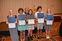 College Bound AZ scholarship winners display their certificates
