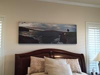 Canvas stretched and mounted