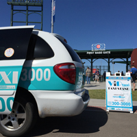 Attending a Cubs game in Mesa? Catch a VIP Taxi at the end of the game and get home safe! Stop by and grab a bottle of water!
