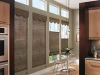 Woven wood shades are handcrafted from rattan reeds, grasses and natural woods that add a unique natural beauty to your home unlike any other type of window covering. They are made from 100% organic materials, making them environmentally friendly window treatments and completely recyclable.