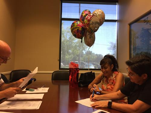 Congratulations on the purchase of your new build, Vicky and Candi!