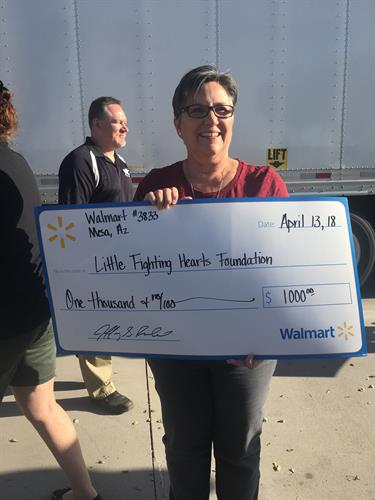 Walmart Donating $1000 support