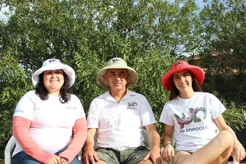 The LizardPools Team, Left to Right: Angela Clark, Homer Clark, & Chelsea Clark