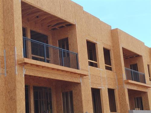 Completed and installed custom fabricated railings for a new apartment complex in Fountain Hills.