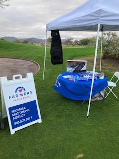 Mesa Chamber Golf Tourney Tee Box set up