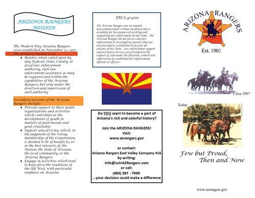 Arizona Ranger- East Valley Company- Tri-Folder- Page 1