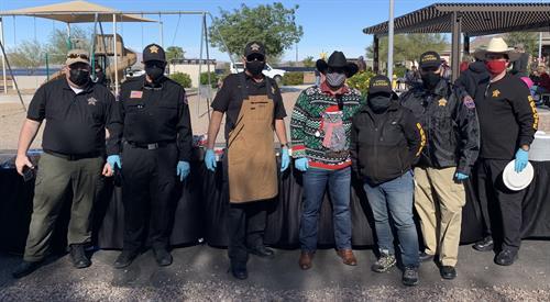 December 2020 BBQ and Gift for Resident Kids at Sunshine Acres in Mesa, AZ