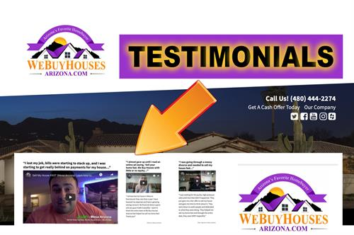 We Buy Houses Arizona Sell My Mesa House Fast  480-444-2274 Testimonials