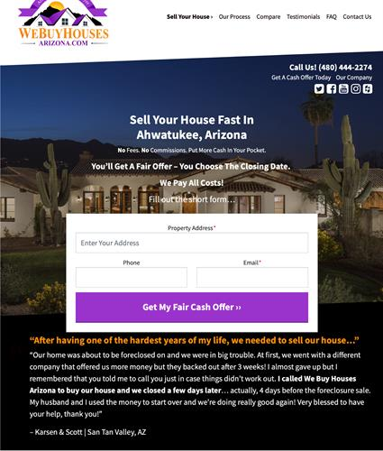 We Buy Houses Arizona Sell My Mesa House Fast For Cash  480-444-2274
