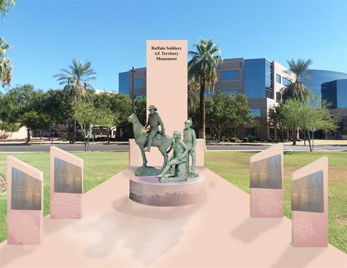 Buffalo Soldiers AZ Territory Monument to be erect at the Arizona State Capitol Wesley Bolin Memorial Plaza, Phoenix, Arizona