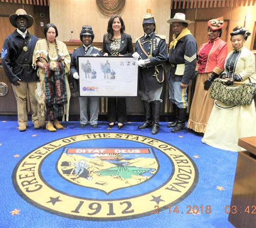 Senator Catherine Miranda, SB1179 Memorial: Buffalo Soldiers and Buffalo Soldiers of the Arizona Territory - Ladies and Gentlemen of the Regiment (February 14, 2018 - PASSED)