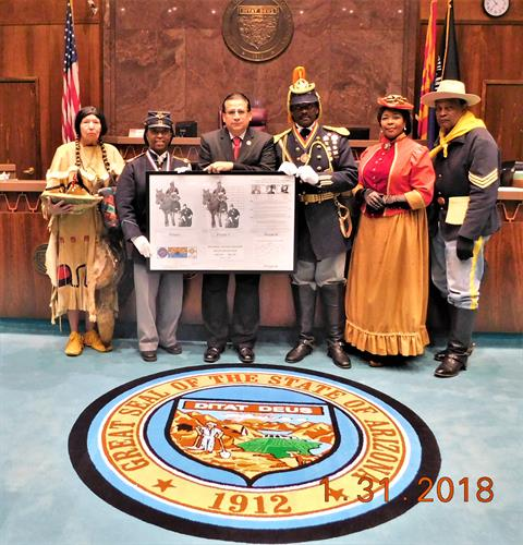 Representative Richard Andrade, HB2419 Memorial: Buffalo Soldiers and Buffalo Soldiers of the Arizona Territory - Ladies and Gentlemen of the Regiment, Mesa (February 1, 2018 - PASSED)