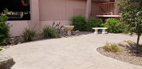 MVRC Reflection Garden Fountain Area
