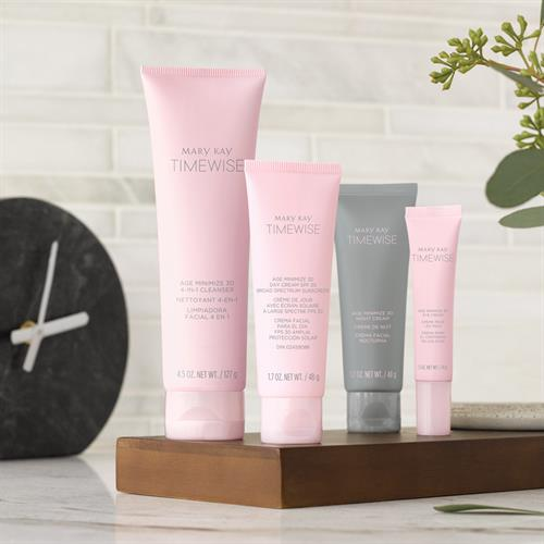 A three-dimensional approach to younger-looking skin. TimeWise Miracle Set 3D®!