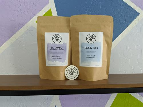 Our coffees, El Tambo and Tega & Tula.