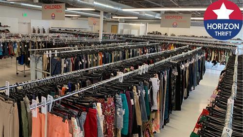 Huge clothing floor!
