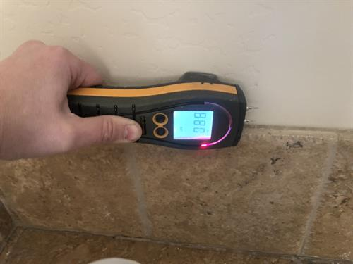Meter walls for moisture.