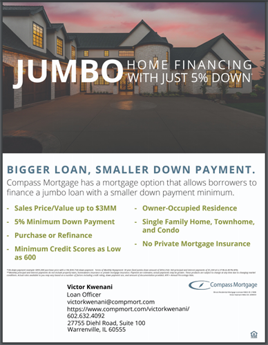 Jumbo Loan with only 5% Down