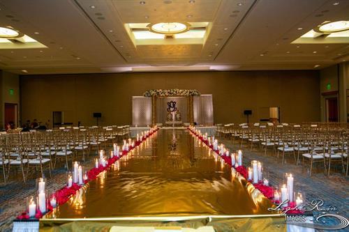 Fabulous wedding aisle decor