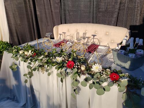 Festive Head Table