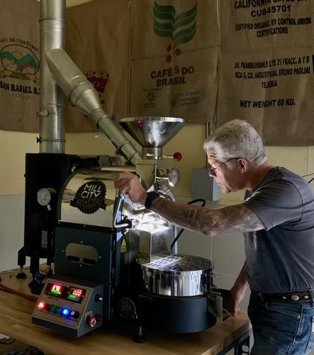 Contemplation at the Sample Roaster