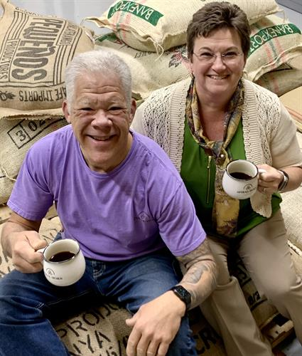 Mark and Michelle Hedley, Founders/Owners of Spiral Horn Coffee Co.