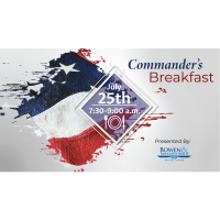 2019 Commander's Breakfast Presented by Bowen & Associates Realty