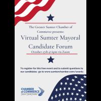 Virtual Sumter Mayoral Candidate Forum