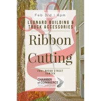 Ribbon Cutting - Leonard Building & Truck Accessories