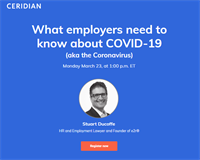 What Employers Need to Know about COVID-19 (aka the Coronavirus): March 23 from 2:30pm - 3:30pm NDT