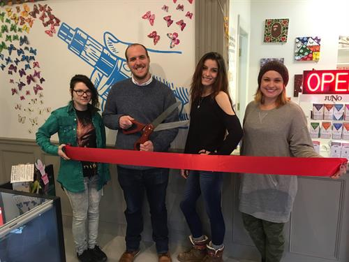 Kat, Michael, Ariana, and Francine at our Ribbon Cutting ceremony