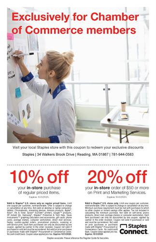 Chamber Members save 10-20% through October 3, 2020