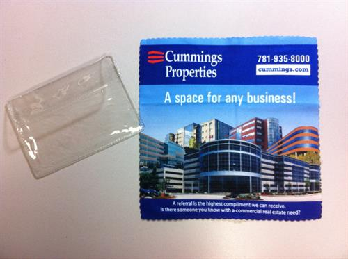 We help select and produce promotional products for local corporations.