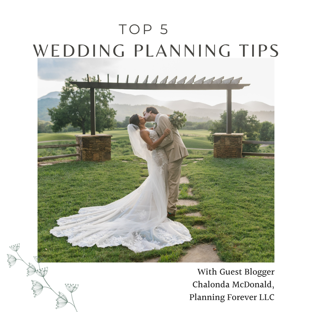 Image for TOP 5 WEDDING PLANNING TIPS