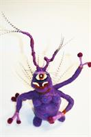 Needle Felting a Wee Space Monster