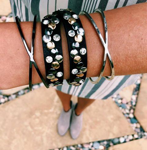 Three's Company bangles; Must Have wrap bracelet
